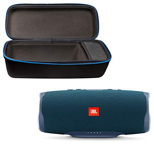 JBL Charge 4 Portable Waterproof Wireless Bluetooth Speaker Bundle with divvi! Charge 4 Protective Hardshell Case - Blue