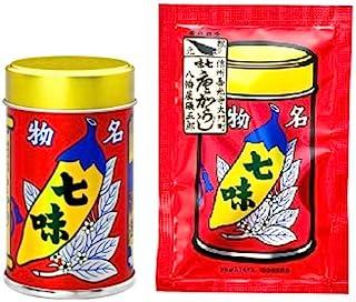 八幡屋礒五郎 七味唐辛子 14g1缶 18g1袋セット