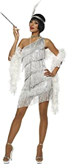 Dazzling Silver Flapper Adult Costume