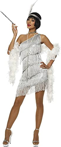 wholesape barato Adult Dazzling Flapper plata plata plata Costume Fancy Dress  tienda en linea