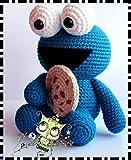 MONSTRUO DE LAS GALLETAS AMIGURUMI PERSONALIZABLE ( Bebé, crochet, ganchillo, muñeco, peluche, niño, niña, lana, mujer, hombre ) MODA, ORIGINAL, FANTASÍA