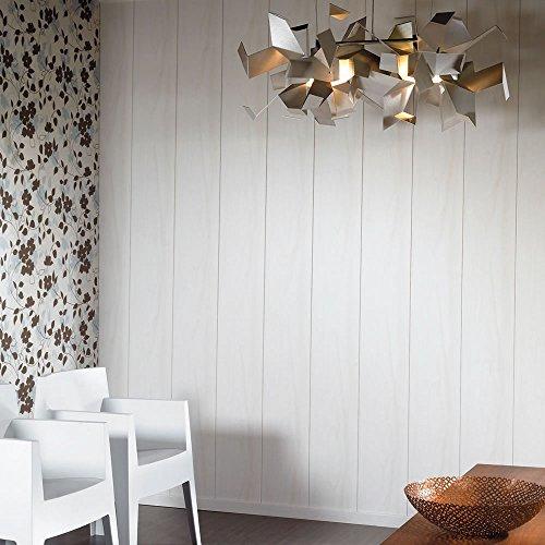 Avanti Wandpaneel und Deckenpaneel Birke Weiss 2600 x 203 x 10 mm