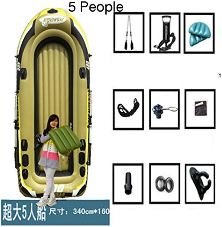 5 person Inflatable Rafting Fishing Boat Set & Mount Kit kayak Pool Raft