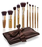 Missamé Vegan Makeup Brushes For Foundation, Blending Blush And Eye Cosmetic, Premium Synthetic Hair, Make Up Brush Set With Organizer, 10 Pcs