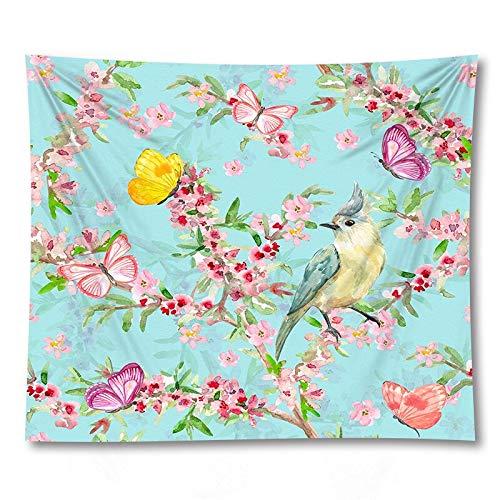 PPOU Tapices para Colgar en la Pared con Flores Mantas de sofá decoración del hogar tapices de Tela de Fondo A3 180x200cm