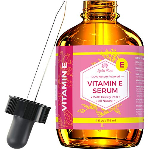 Vitamin E Serum by Leven Rose 100% Pure Organic All Natural Face, Dry Skin & Body Moisturizer Treatment, Hair...