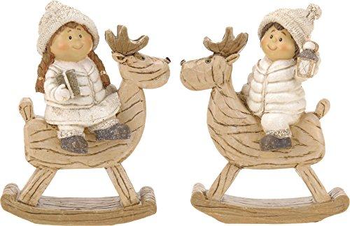 Small-Preis Winterkinder auf Schaukelelch im 2er Set