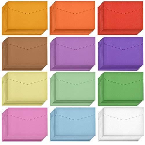 FYSL 60 Stück Mini Umschläge Bunte Briefumschläge Kleine Umschläge Multifarbe für Geschenkkarte Hochzeit, Geburtstag Party Supplies, 11,5 x 8,2 cm
