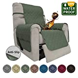 Easy-Going Sofa Slipcover Recliner Cover Waterproof Couch Cover Furniture Protector Sofa Cover Pets Covers Whole Fabric No Stitching Non-slip fabric Pets Kids Children Dog Cat (Recliner,Greyish Green)