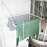 7 Metre Folding Metallic Utility Indoor Clothes Dryer Laundry Washing Airer White JVL