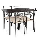 interougehome Ensemble Table et chaises pour Salle à Manger, Cuisine, pour 4...