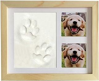 WNGGADH Cadre photo pour animal domestique - Cadre photo avec empreintes de pattes de chats et de chiens - Pour décoration...