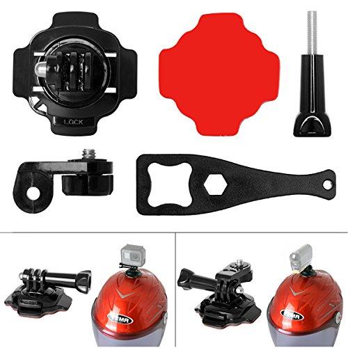 Elemento di fissaggio per bicicletta + corda in acciaio inox + supporto per casco