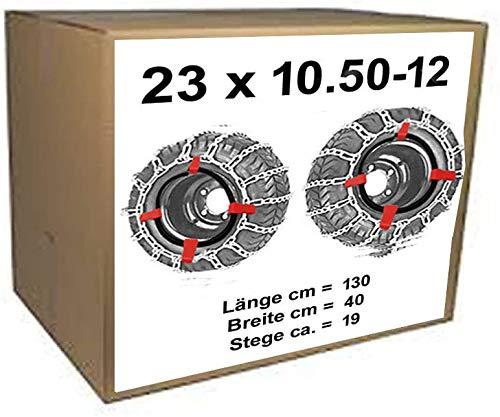 23x10.50-12 Schneeketten + Spanner für Rasentraktor Aufsitzmäher auch 20x10.00-8AS