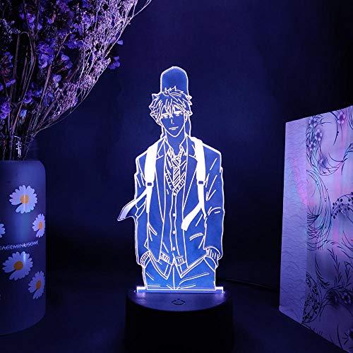 Lámpara de ilusión 3D Control remoto Luz de noche 16 colores Luz de conversión 3D Figura nocturna Anime Nana LED Nightlight Otaku Glow Lights Regalos de Navidad Hogar Dormitorio Vestidor Decoración