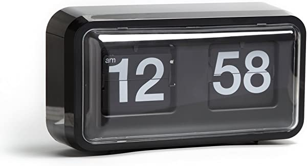 Auto Flip Clock 10 5 X 6 X 3 2 Inches Wall Hang Desktop Clock Vintage Noiseless Decorative With Premium Plastic Moving Clock For Office Home Bar Moden Living Room Decor Nice Black Cabinet