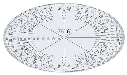 ドラパス 立体分度器 35度 単品 長軸径120mm 16523