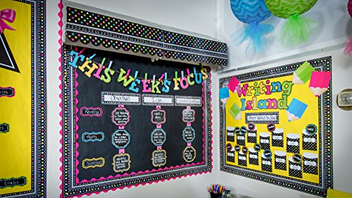 Teacher Created Resources Chalkboard Brights Straight Border Trim (5619) Photo #3
