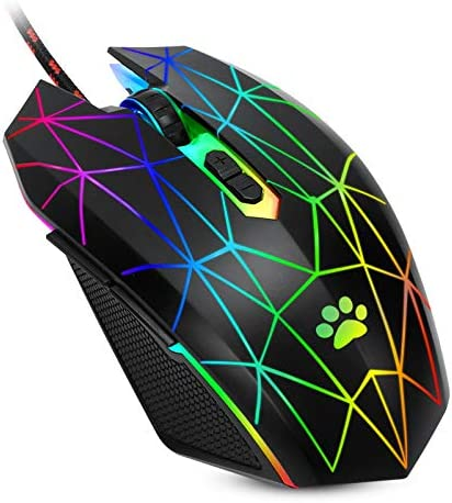 USB Wired Mouse RGB Optical Computer Mouse 7200 DPI Office and Home Mice 7 Buttons Premium and product image