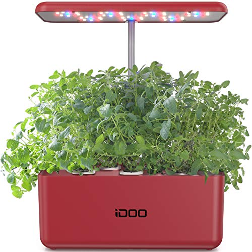 iDOO Hydroponics Growing System, Indoor Herb Garden Starter Kit with LED Grow Light, Smart Garden Planter for Home Kitchen, Automatic Timer Germination Kit