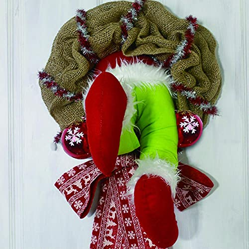 MMYNL Corona de Ladrones de Navidad Creativa, Corona de decoración de otoño, Muy Adecuada para Puertas y Ventanas, decoración de Interiores, Corona de Halloween Artificial, envasado al vacío-Los 35CM