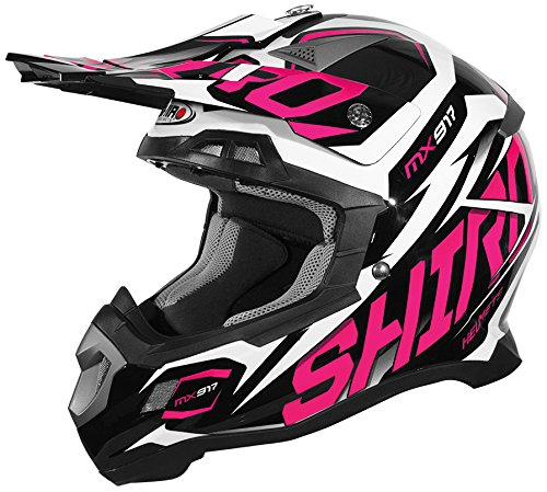Shiro MX-917 Casco Thunder Rosa, Talla XS