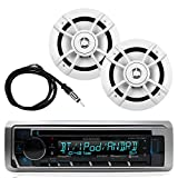 Great New Kenwood Marine Boat Yacht Outdoor Bluetooth Stereo CD MP3 Player USB iPod iPhone Pandora AM/FM...