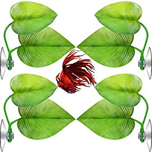 4 Pieces Betta Bed Leaf Hammock for Betta Fish, Lightweight and Realistic Resting Spot, No BPA, Practical, Comfortable…