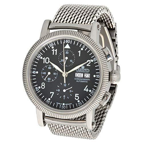 ARISTO Herren Automatik Chronograph Armbanduhr 4H86M ETA Valjoux 7750 Milanaise Armband
