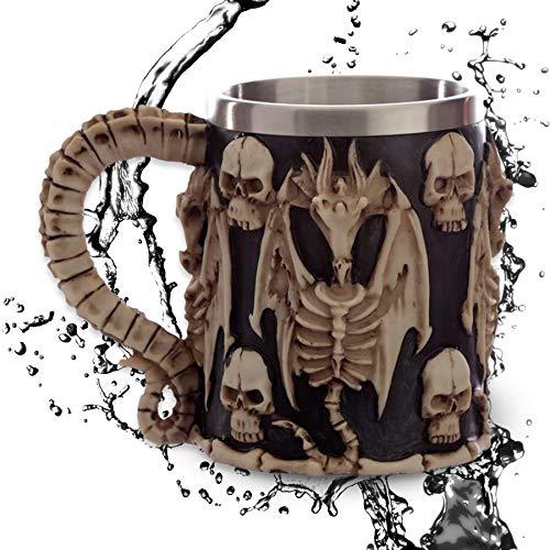 Jarra ''Dragon Bones'' - Taza dragón (0,35l) - Altura 12 cm - Decoración medieval fantasía fantástico Fantasy