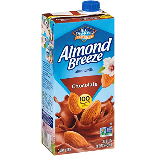 Blue Diamond Almonds Almond Breeze Dairy Free Almondmilk, 32 Oz Boxes (Pack of 12), Chocolate, 384 Fl Oz