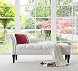Jennifer Taylor Home Harrison Chaise Lounge, White