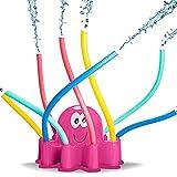 Maril Wasser Sprinkler Spray im Oktopus-Form für Kinder, Süßes Hinterhof Sprinkler Spielzeug mit Wackelrohrarmen, Aktives Sommerspiel für Kinder und Haustiere, Wird am Gartenschlauch Proficient