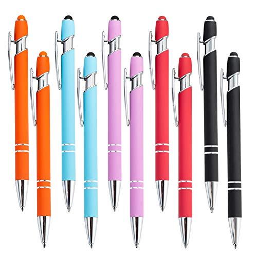10 Stifte,Universeller Kapazitiver 2-In-1-Stift Für Touchscreen-Geräte,Kompatibel Mit Smartphones Und Tablets,Praktischer Kugelschreiber,Beste Geschenkauswahl(5 Verpackungsfarben)