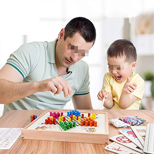 Checkers Chinese Checkers Traditioneel & uitdagende strategie Peg Houten Board Game For Adults Kid Multifunctionele Checkers Board Games aijia ( Color : True Color , Size : Free size )