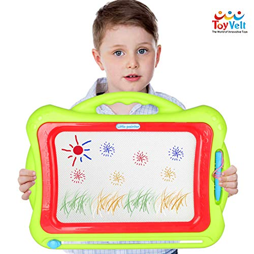 Toyvelt Magna Doodle Magnetic Drawing Board for Kids - The Board Features a Extra Large Writing Board with 8 Color Zones & Erasable Slider to Etch a Sketch for Boys and Girls Ages 2 - 12 Years Old