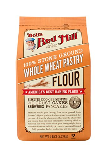 Bob's Red Mill Whole Wheat Pastry Flour, 5 Pound (Pack of 4)