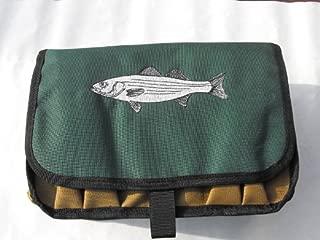 Striper Saltwater Surf Fisherman's Lure & Plug Ten Compartment Bag Case w/ Drain Holes