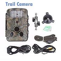 狩猟用カメラ12MP 1080P、最大65フィートのゲームカメラ、0.2秒トリガー時間動作、2.4インチカラースクリーンおよびユニークなキーパッド、防水野生生物狩猟用カメラ