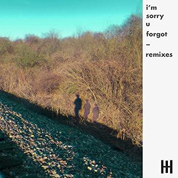 i'm sorry u forgot remixes