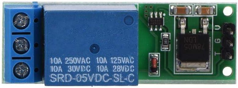 Oumefar Placa de Disparo de bajo Pulso, Mini 6-24V Módulo de relé de Enganche Flip-Flop Interruptor de Bloqueo automático biestable