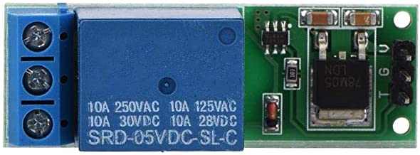 Liukouu Mini 6-24V Flip-Flop Latch Relay Module Bistable Self-Locking Switch Low Pulse Trigger Board