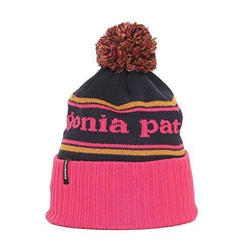 Patagonia Powder Town Beanie Park Stripe Craft Rosa Azul marino