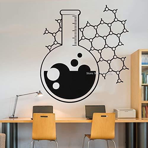 zqyjhkou Chemie Becher Poster Decals Wissenschaft Decal Aufkleber Wand Vinyl Kunst Home Room Decor Lehrer Klassenzimmer lustig EIN Muster 61x56cm