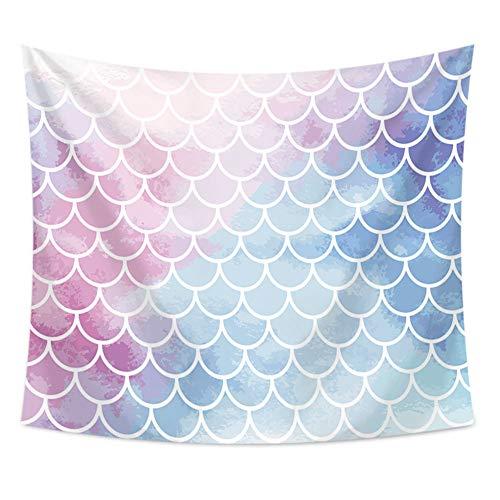 nobranded Tapiz de Escamas de Pescado Colorido decoración de Pared Toalla de Playa decoración Tela hogar decoración telón de Fondo Yoga Picnic Mat