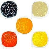 FRANKLY Popping Boba - Perle alla frutta Per Bubble Tea, Yogurt, Torte e Dolci (Gusti misti, 5 confezioni da 100g)
