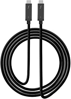 (2 M) - SIIG Thunderbolt 3 Certified, 40Gbps 2M Thunderbolt 3 Active Cable - 100W Charging/5A/20V - Daisy Chain up to 6 Devices - USB Type C with Thunderbolt Logo Compatible - 6.6 Ft