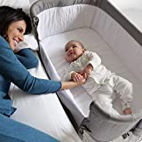 Bedside Bassinet Crib Baby Bassinet Bedside Sleeper Bassinet for Baby Playpen Wheeled Portable and Adjustable Bassinet for Newborn Baby Boy Baby Girl Infant