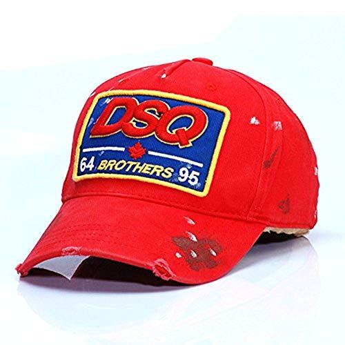 HYP@Baseball Cap/Baseballkappe/Trucker Cap/Trucker Hat/Golf Sport Outdoor Kappe Mütze CapMänner und Damen schreiben Stempel im Freien, Rot, verstellbar