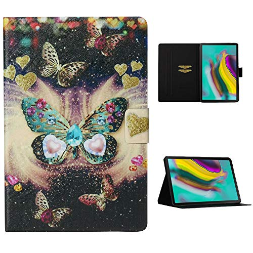 Cestor Flip Tablet Case for Samsung Galaxy Tab S5e 10.5 SM-T720/T725,Ultra Slim Premium Colorful Print PU Leather [Multi-Angle View] Folio Stand Wallet Cover with Auto Wake/Sleep,Pretty Butterfly
